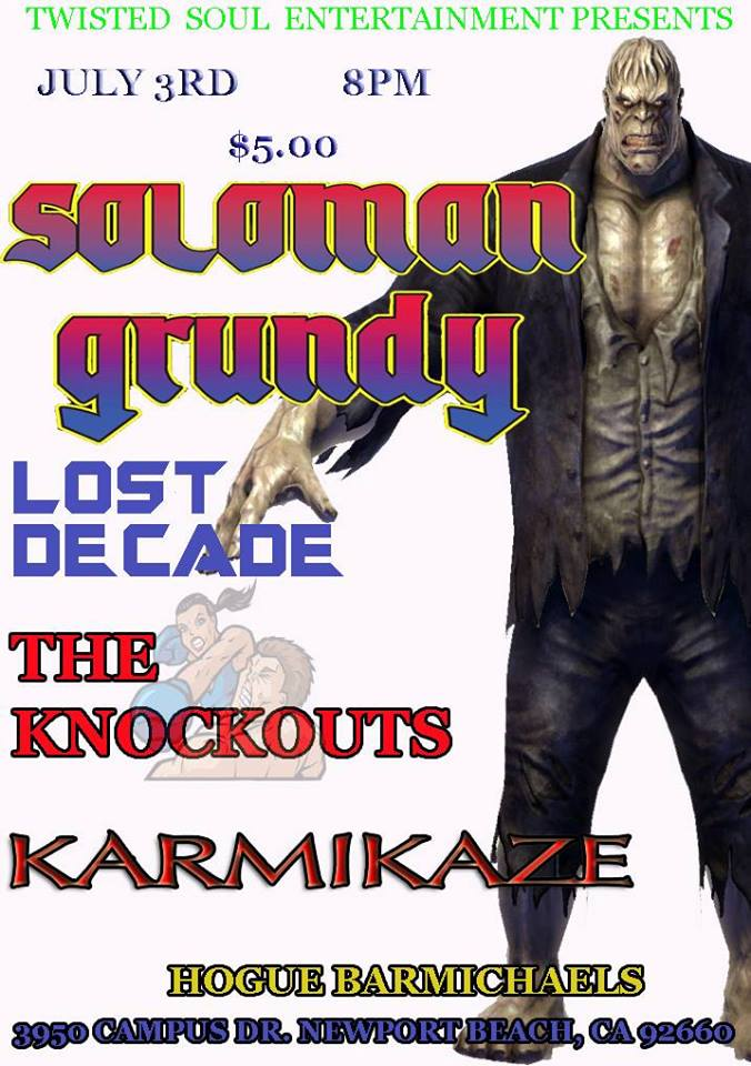 Karmikaze Live at the Doll Hut in Anaheim, May 28 at 8pm